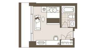 Floor plan of the Single Room